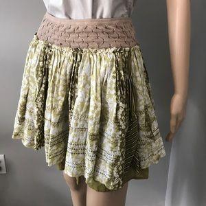 Free People Double Layered Pleated Mini Skirt